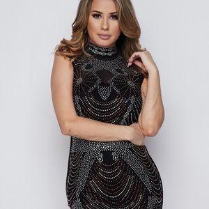 BNWT black beaded dress